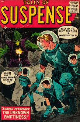 Tales of Suspense #1 (January 1959): Pure Science Fiction for Now People. Click for value
