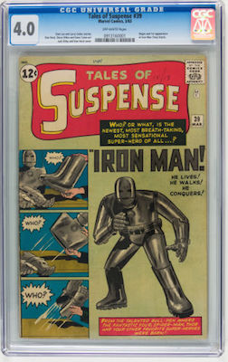 You may not be able to afford better, but don't lower your standards below VG. Buy a copy of Tales of Suspense #39 in at least CGC 4.0. Click to buy