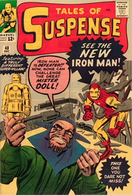 Tales of Suspense #48 (December 1963): 1st Appearance of Iron Man's Mk III (Red and Gold) Armor. Click for values