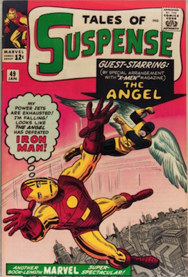 Tales of Suspense #48: first Iron Man comic crossover with X-Men and Avengers