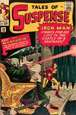 Tales of Suspense #50 (February 1964): 1st Appearance of the Mandarin. Click for values