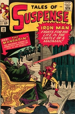 Tales of Suspense #50, the first appearance of The Mandarin. Click to buy