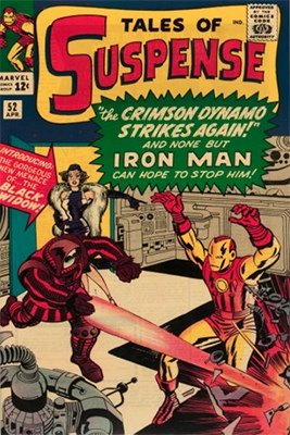 Origin and First Appearance, Crimson Dynamo (Boris Turgenev), Tales of Suspense #52, Marvel Comics, 1964. Click for value