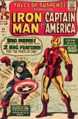 Tales of Suspense #59 (November, 1964): Captain America Joins Tales of Suspense! Click for values
