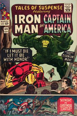 Origin and First Appearance, Titanium Man Tales of Suspense #69, Marvel Comics, 1965. Click for values