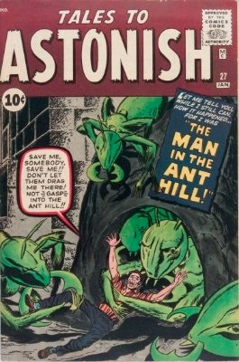 First Appearance, Henry Pym (Pre-Ant Man), Tales to Astonish #27, Marvel Comics, 1962. Click for value