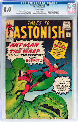 Tales to Astonish #44 is just about to get too expensive in CGC 8.0 for most buyers. Get yours while you can! Click to buy a copy