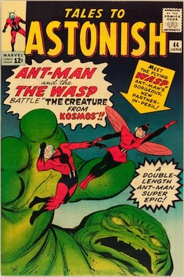 Tales to Astonish #44 (June 1963): Origin and First Appearance, Giant-Man and the Wasp. Click to see values