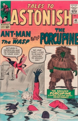 Origin and First Appearance, Porcupine, Tales to Astonish #48, Marvel Comics, 1963. Click for value