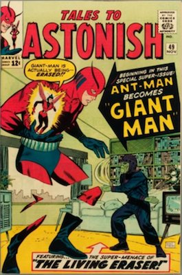 Tales to Astonish #49, Ant-Man becomes Giant Man. Click for values