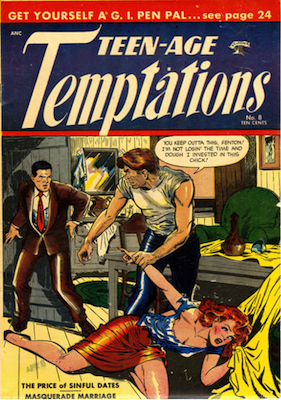 Teen-Age Temptations comic #8. Click for values