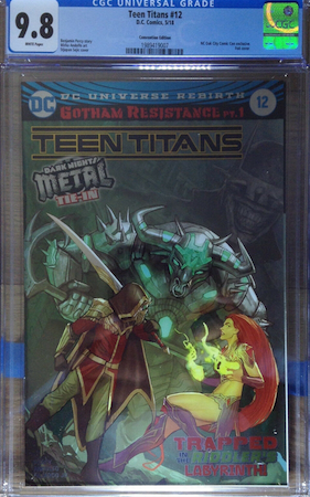 100 Hot Comics #84: Teen Titans 12 Convention edition, 2018, 1st Appearance of Batman Who Laughs. Click to buy a copy