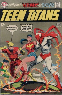 Teen Titans #21 (June, 1969): Hawk and Dove Guest Star. Click for value