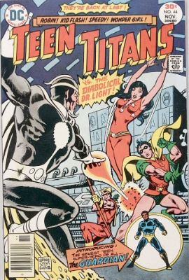 Teen Titans #44 (November, 1976): Reboot of the Series; Guardian Joins; First Appearance, Bumblebee. Click for value