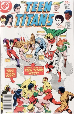 Teen Titans #50 (October, 1977): First Appearance, Teen Titans West. Click for value