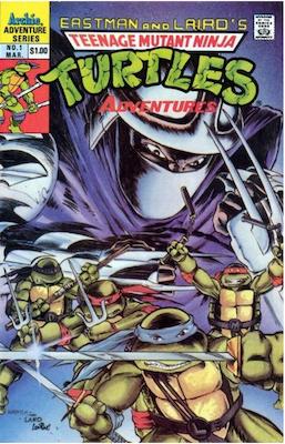 Teenage Mutant Ninja Turtles Adventures #1 (1989). Click for values