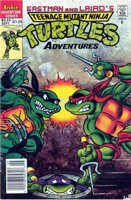 Teenage Mutant Ninja Turtles Adventures #24 (1989): Archie Publications. Click for values
