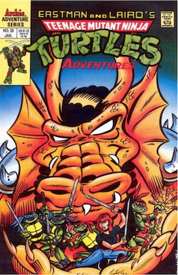 Teenage Mutant Ninja Turtles Adventures #28 (1989): Archie Publications. Click for values