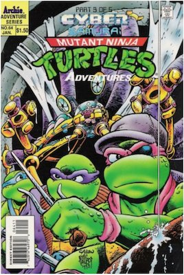 Teenage Mutant Ninja Turtles Adventures #64 (1989): Archie Publications. Click for values