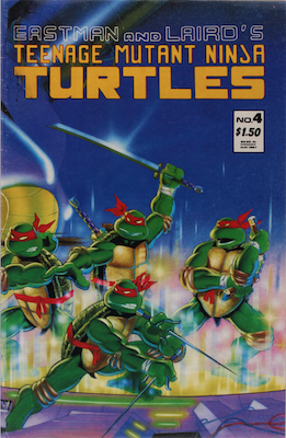 TMNT #4, 2nd Print: Corrected Version. Click for values