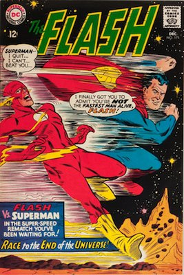 Flash comic #175: 2nd Superman vs Flash Race story. Click for values