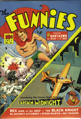 The Funnies #57: Origin and First Appearance of Captain Midnight Comics. Click for values