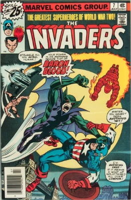 Origin and First Appearance, Baron Blood, Invaders #7, Marvel Comics, 1976. Click for value
