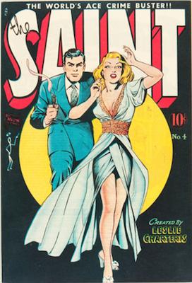 The Saint comic book #4: Matt Baker cover. Click for values
