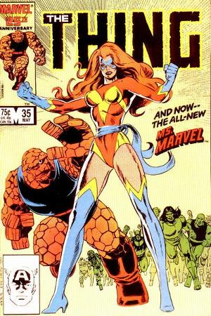 Sharon Ventura (First Appearance as Ms. Marvel, The Thing #35, May 1986). Click for value