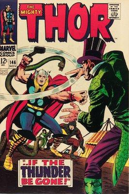 Origin of the Inhumans: Thor #146. Click for value