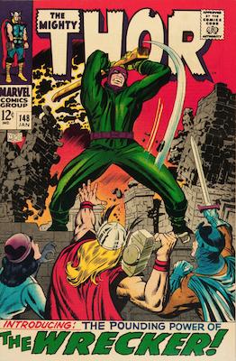 Origin of Black Bolt: Thor #148. Click for values