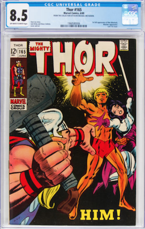 100 Hot Comics #36: Thor 165, 1st Adam Warlock. Click to order a copy