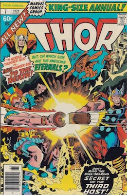 Thor Annual #7: Eternals Saga crossover. Click for values