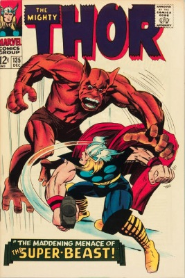 Origin and First Appearance, Man-Beast, Thor #135, Marvel Comics, 1966. Click for value