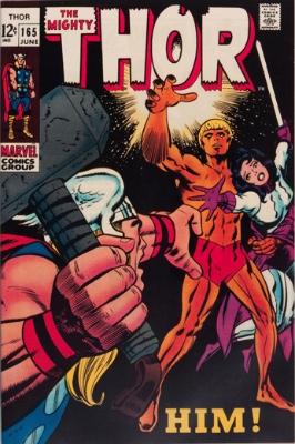 HIM! (Adam Warlock) (First Appearance: Thor #165, April, 1969). Click for value