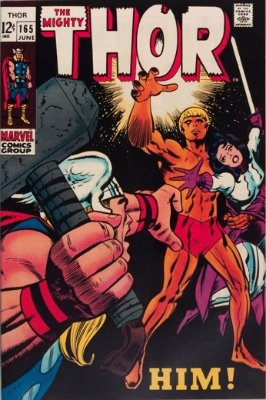 Thor #165: First full appearance of Adam Warlock. Click for values