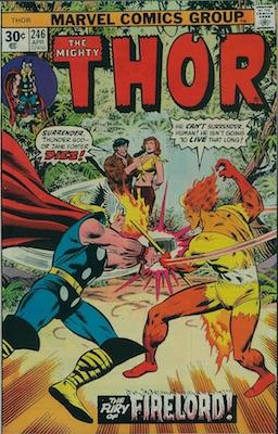 Thor #246 Marvel 30 Cent Price Variant April, 1976. Regular Price Box