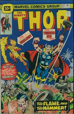 Thor #247 30c Variant May, 1976. Price in Starburst
