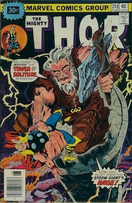 Thor #248 Marvel 30c Variant June, 1976. Starburst Flash