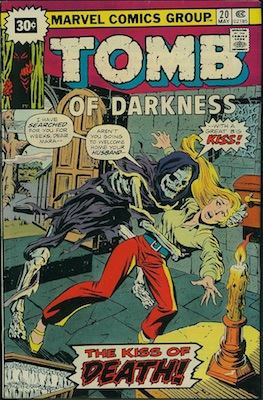Tomb of Darkness #20 30c Price Variant May, 1976. Price in Starburst