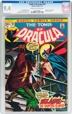 While a CGC 9.8 of Tomb of Dracula #10 would be desirable, it's too expensive for many people. Buy a clean CGC 9.4. Click to find yours!