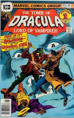 Tomb of Dracula #45 30 Cent Price Variant June, 1976. Price in Starburst