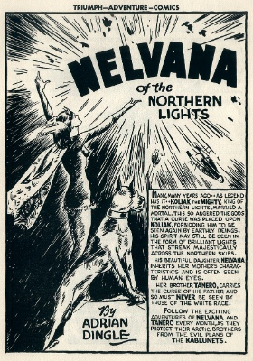 Triumph Comics #1: Origin and First Appearance, Nelvana of the Northern Lights. Very rare Canadian white comic book
