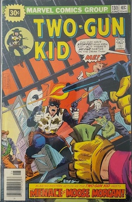 RARE! Two-Gun Kid #130 Marvel 30 Cent Variant June, 1976. Price in Starburst