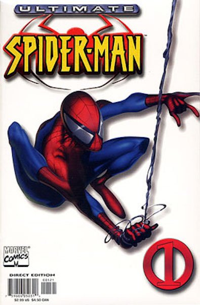 "#81: Ultimate Spider-man 1 ""White"" Variant, Quesada (2000). Click for values"