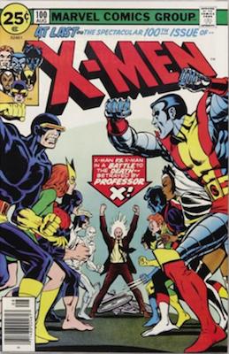 Uncanny X-Men #100: Old X-Men vs New X-Men. Click for values