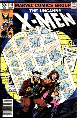 Uncanny X-Men #141: Days of Future Past storyline. Click for values