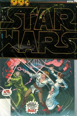Value of Star Wars Comics in Poly Bags 99c