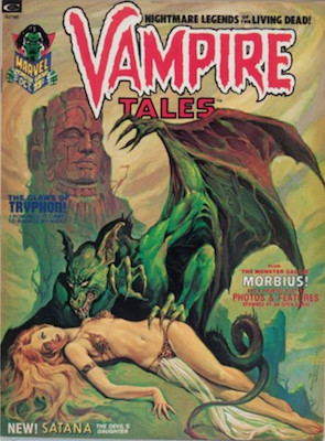 Vampire Tales magazine #2 (1973): Curtis (Marvel) publication, rare in high grade. Click for value