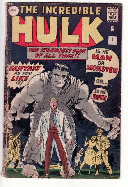 A UK edition of Hulk #1 which I sold for $2,000